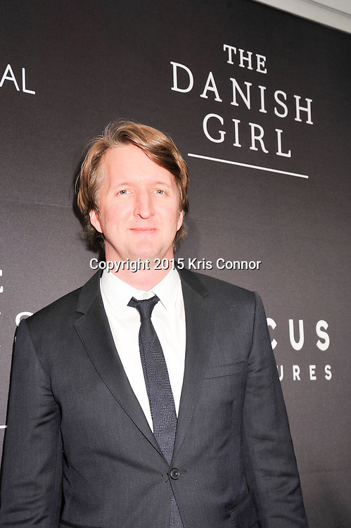 "Tom Hooper, director, The Danish Girl, attends the DC premiere of Focus Features' ""THE DANISH GIRL"" at the United States Navy Memorial in Washington DC on November 23, 2015.  (Photo by Kris Connor for Focus Features)"