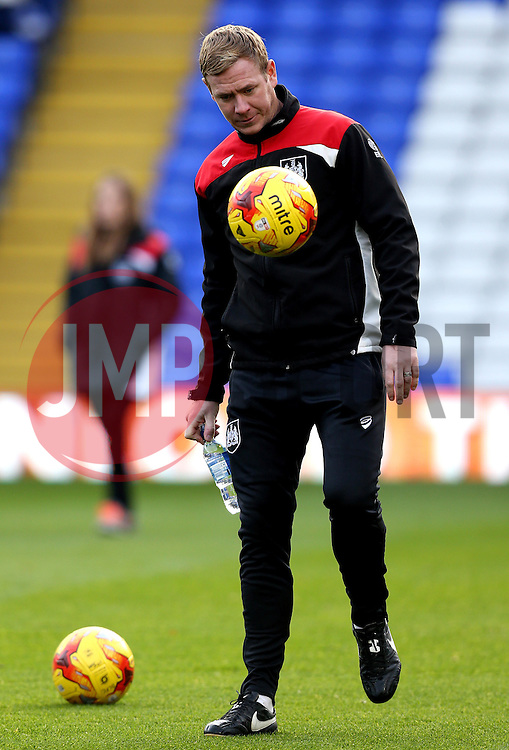 Bristol City Assistant Head Coach Dean Holden does keep ups with a ball - Mandatory by-line: Robbie Stephenson/JMP - 19/11/2016 - FOOTBALL - St Andrew's Stadium - Birmingham, England - Birmingham City v Bristol City - Sky Bet Championship