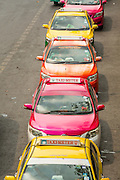 16 FEBRUARY 2013 - BANGKOK, THAILAND:  The taxi stand in front of Chatuchak Weekend Market in Bangkok. It is reportedly the largest market in Thailand and the world's largest weekend market. Frequently called J.J., it covers more than 35 acres and contains upwards of 5,000 stalls.         PHOTO BY JACK KURTZ