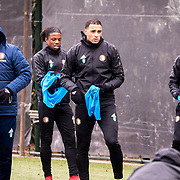 NLD/Rotterdam/20180301 - Training Feyenoord voor de bekerfinale, Jean Paul van Gastel, Tyrell Malacia, Sofyan Amrabat en ........