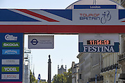 View from Piccadilly Circus towards Parliament during the Tour of Britain 2016 stage 8 , London, United Kingdom on 11 September 2016. Photo by Martin Cole.