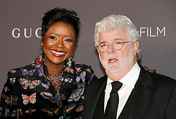 George Lucas and Mellody Hobson at the 2017 LACMA Art + Film Gala held at the LACMA in Los Angeles, USA on November 4, 2017.