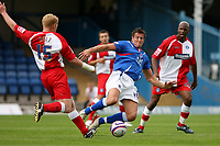 Photo: Pete Lorence.<br />Chesterfield Town v Wycombe Wanderers. Coca Cola League 2. 01/09/2007.<br />Gary Holt and Steve Fletcher battle for the ball.