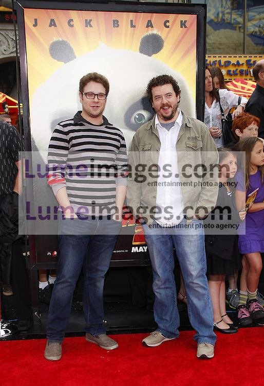 Seth Rogen and Danny McBride at the Los Angeles premiere of 'Kung Fu Panda 2' held at the Grauman's Chinese Theater in Hollywood, USA on May 22, 2011.