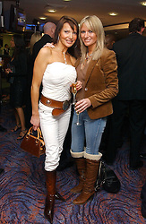 Left to right, LIZZIE CUNDY and ALEX BEST at a sales event for the exclusive Chelsea Bridge Wharf in aid of CLIC Sargeant cancer charity held at Stamford Bridge football stadium, Chelsea, London on 7th February 2006.<br />
