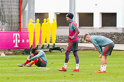 14.03.2019, Säbener Strasse, Muenchen, GER, 1. FBL, FC Bayern Muenchen vs 1. FSV Mainz 05, Training, im Bild v.l. Kingsley Coman (FC Bayern), Thomas Müller (FC Bayern), Joshua Kimmich (FC Bayern) // during a trainings session before the German Bundesliga 26th round match between FC Bayern Muenchen and 1. FSV Mainz 05 at the Säbener Strasse in Muenchen, Germany on 2019/03/14. EXPA Pictures © 2019, PhotoCredit: EXPA/ Lukas Huter