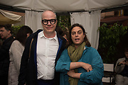 HANS ULRICH OBRIST; MAJA HOFFMAN, BLOOMBERG LUNCH, METROPOLE HOTEL, . Venice Biennale, 10 May 2017