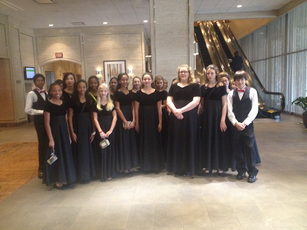 Pin Oak Middle School's show choir performed at the Texas Association of Bilingual Educators (TABE) Conference held at the Westin Galleria on Oct. 11. The choir is led by Peggy Moritz.
