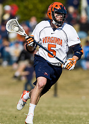 Virginia Cavaliers M/A Steve Giannone (5) in action against Drexel.  The #2 ranked Virginia Cavaliers defeated the Drexel Dragons 13-7 at the University of Virginia's Klockner Stadium in Charlottesville, VA on February 14, 2009.