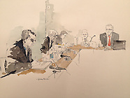 Ian Brady Tribunal, George Butler sketches