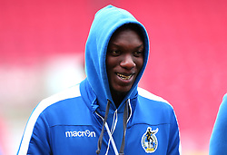 Bernard Mensah of Bristol Rovers arrives at The Keepmoat Stadium for his side's fixture against Doncaster Rovers - Mandatory by-line: Robbie Stephenson/JMP - 27/01/2018 - FOOTBALL - The Keepmoat Stadium - Doncaster, England - Doncaster Rovers v Bristol Rovers - Sky Bet League One