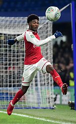 Ainsley Maitland-Niles of Arsenal - Mandatory by-line: Alex James/JMP - 10/01/2018 - FOOTBALL - Stamford Bridge - London, England - Chelsea v Arsenal - Carabao Cup semi-final first leg
