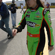 NASCAR Sprint Cup driver Danica Patrick walks back to her hauler after  her NASCAR Daytona 500 practice session at Daytona International Speedway on Wednesday, February 20, 2013 in Daytona Beach, Florida.  (AP Photo/Alex Menendez)