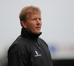 Forest Green Rovers Manager, Adrian Pennock looks on.  - Photo mandatory by-line: Nizaam Jones - Mobile: 07966 386802 - 25/04/2015 - SPORT - Football - Nailsworth - The New Lawn - Forest Green Rovers v Dover - Vanarama Conference League