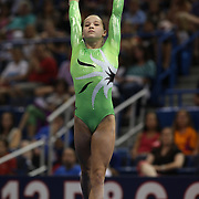 Madison Kocian, Dallas, Texas, in action during the Floor Exercise during the Senior Women Competition at The 2013 P&G Gymnastics Championships, USA Gymnastics' National Championships at the XL, Centre, Hartford, Connecticut, USA. 15th August 2013. Photo Tim Clayton