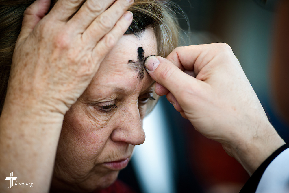 Ash Wednesday at the International Center of The Lutheran Church—Missouri Synod on Wednesday, Feb. 10, 2016 in St. Louis.  LCMS Communications/Erik M. Lunsford