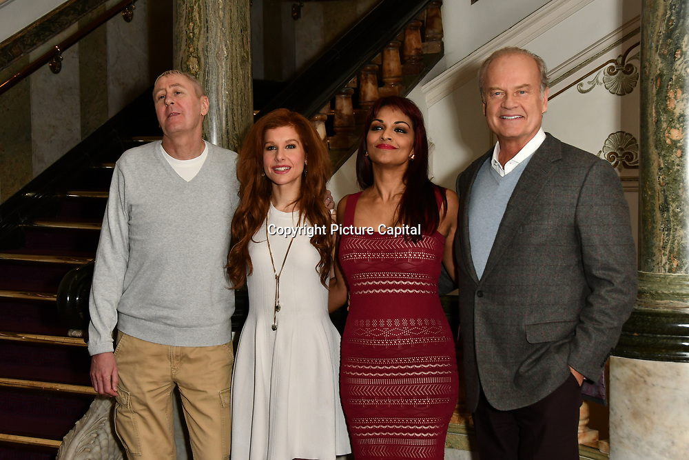 Photocall: Nicholas Lyndhurst ,Cassidy Janson, Danielle de Niese and Kelsey Grammer of Man of La Mancha at London Coliseum on 19 Feb 2019, London, UK.