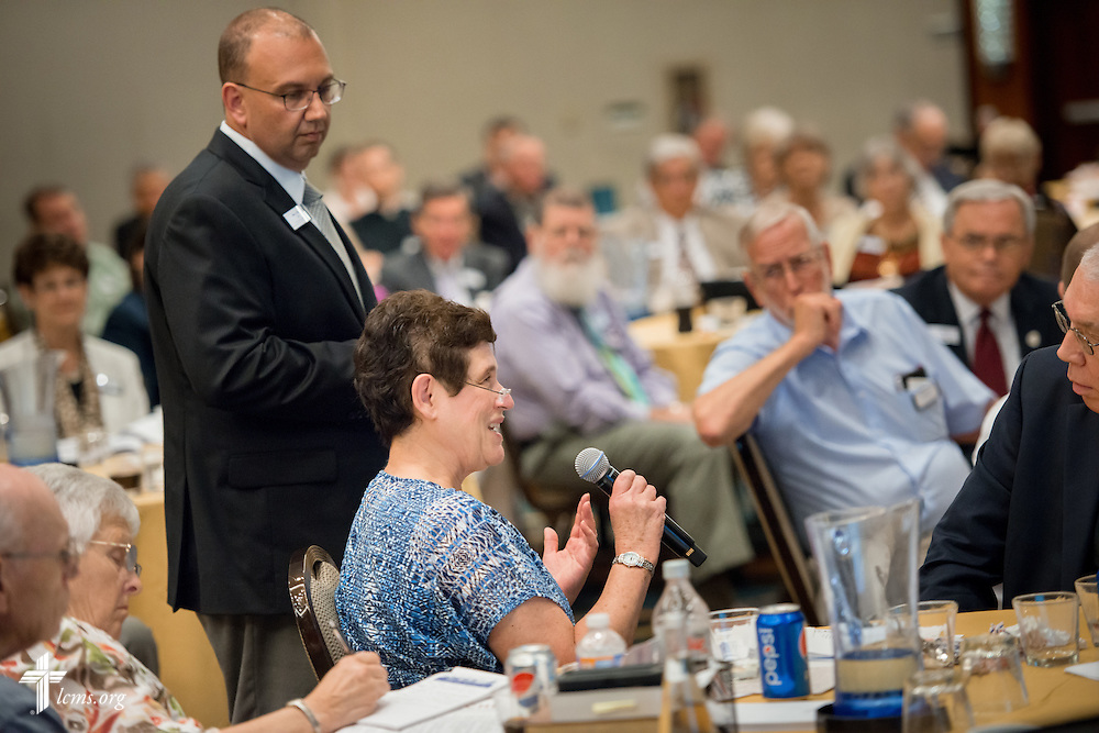 Participants ask questions during a presentation at the Let's Talk Life, Marriage and Religious Liberty event on Tuesday, September 8, 2015, in Washington, D.C. LCMS Communications/Erik M. Lunsford