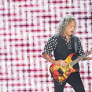 BALTIMORE, MD - May 10th, 2017 - Kirk Hammett of Metallica perform at M&T Bank Stadium in Baltimore, MD on the opening night of their Worldwired Tour 2017. The band released their tenth studio album, Hardwired... to Self-Destruct, in November 2016. (Photo by Kyle Gustafson / For The Washington Post)