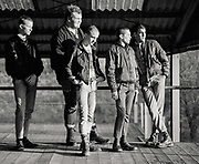 Group of young skinheads, UK, 1980s