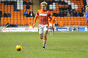 Blackpool Midfielder Brad Potts during the Sky Bet League 1 match between Blackpool and Oldham Athletic at Bloomfield Road, Blackpool, England on 16 February 2016. Photo by Pete Burns.