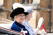 "Koning Willem Alexander wordt door Hare Majesteit Koningin Elizabeth II geïnstalleerd in de 'Most Noble Order of the Garter'. Tijdens een jaarlijkse ceremonie in St. Georgekapel, Windsor Castle, wordt hij geïnstalleerd als 'Supernumerary Knight of the Garter'.<br /> <br /> King Willem Alexander is installed by Her Majesty Queen Elizabeth II in the ""Most Noble Order of the Garter"". During an annual ceremony in St. George's Chapel, Windsor Castle, he is installed as ""Supernumerary Knight of the Garter"".<br /> <br /> Op de foto / On the photo: Princess Alexandra of the United Kingdom"