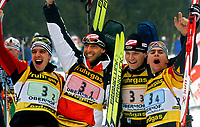 Skiskyting<br /> VM 2004<br /> Oberhof - Tyskland<br /> Foto: Digitalsport<br /> Norway Only<br /> <br /> 4 x 7,5 kilometer stafett menn<br /> <br /> Ricco Gross, Frank Luck, Sven Fischer, Michael Greis (GER)