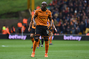 Wolverhampton Wanderers forward Benik Afobe (19) during the EFL Sky Bet Championship match between Wolverhampton Wanderers and Sheffield Wednesday at Molineux, Wolverhampton, England on 29 April 2018. Picture by Alan Franklin.