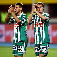 Fotball<br /> 19.07.2009<br /> Rapid Wien v Liverpool<br /> Foto: Gepa/Digitalsport<br /> NORWAY ONLY<br /> <br /> Bild zeigt den Jubel von Veli Kavlak und Markus Heikkinen (Rapid)