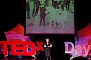 Marta Wojcik speaks during TEDx Dayton at the Victoria Theatre in downtown Dayton, Friday, November 15, 2013.  TEDx Dayton is a localized version, and uses a format similar to national TED (Technology, Entertainment, Design) events.