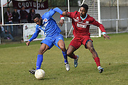 AFC Croydon Athletic's Raheem Sterling-Parker  during the Southern Counties East match between AFC Croydon Athletic and Greenwich Borough at the Mayfield Stadium, Croydon, United Kingdom on 12 March 2016. Photo by Martin Cole.