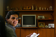 Sao Paulo_SP, Brasil...Retrato de Gabriel Chalita, quando era secretario da educacao de Sao Paulo, na secretaria...Gabriel Chalita portrait, when he was secretary of education from Sao Paulo, in his work...Foto: LEO DRUMOND / NITRO