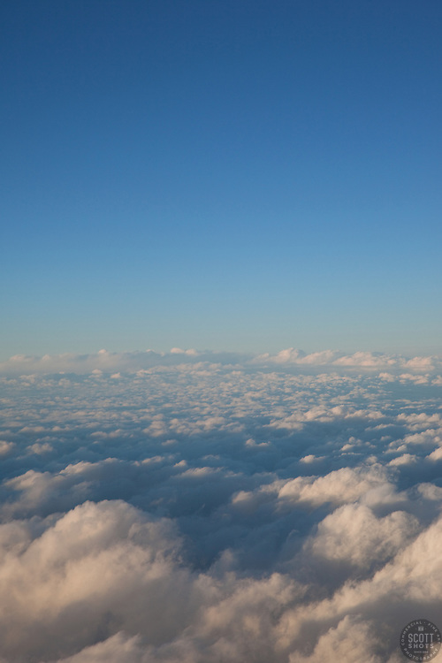 """""""Clouds 6"""" - These clouds were photographed from an airplane above the clouds."""