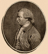 Gilbert Stuart (1742-1786) Scottish historical essayist, born in Edinburgh. Jealous and irrascible, he attacked the work of other contemporary historical authors, even though his own work could be inaccurate. Engraving from 'The European Magazine' (London