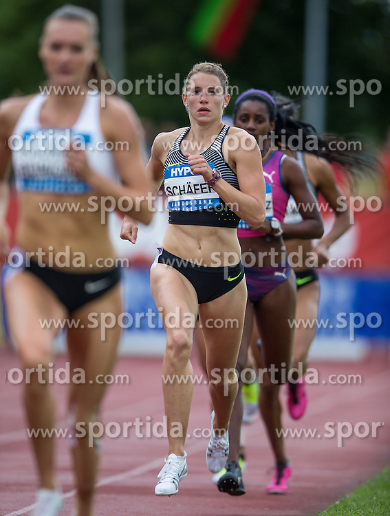 29.05.2016, Moeslestadion, Goetzis, AUT, 42. Hypo Meeting Goetzis 2016, Siebenkampf der Frauen, 800 Meter, im Bild Carolin Schaefer (GER) // Carolin Schaefer of Germany during the 800 metres event of the Heptathlon competition at the 42th Hypo Meeting at the Moeslestadion in Goetzis, Austria on 2016/05/29. EXPA Pictures © 2016, PhotoCredit: EXPA/ Peter Rinderer