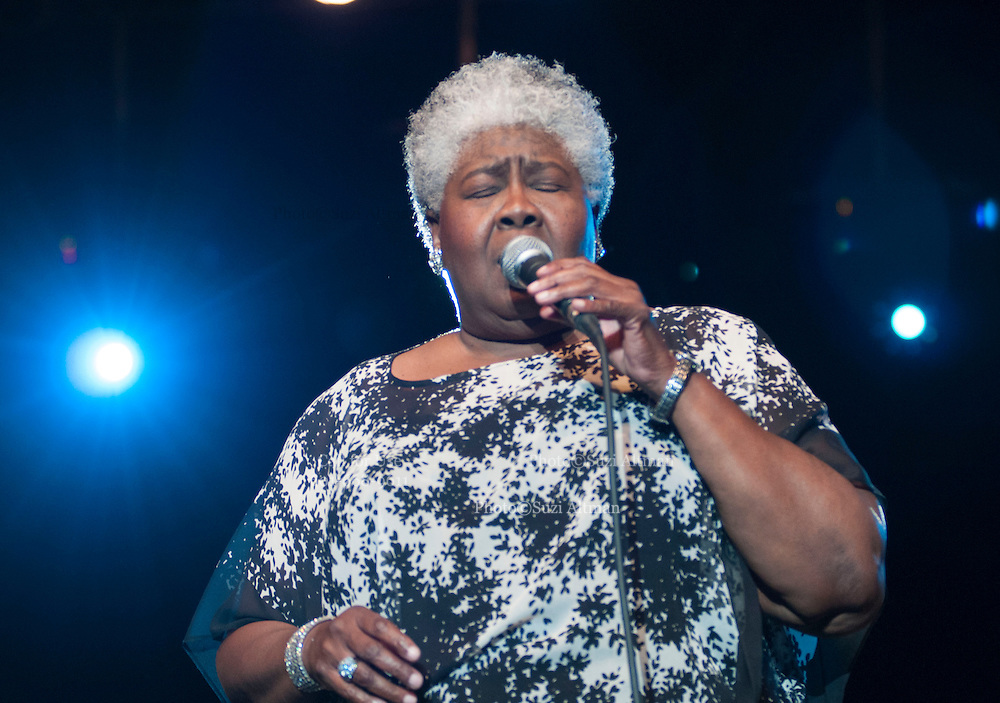 "(Jackson-Mississippi) Grammy award winner for  the song "" Misty Blue""and Jackson Mississippi native Dorothy Moore, sings her hit ""Misty Blue"" at the first annual Southern Crossroads Music &Tamale Festival Saturday August 11,2012. She was also presented by a proclamation from the mayor of Jackson. Photo © Suzi Altman."