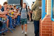Leeds United defender Ezgjan Alioski (10) arriving during the EFL Cup match between Leeds United and Stoke City at Elland Road, Leeds, England on 27 August 2019.