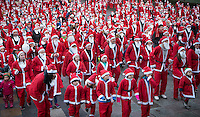When you wish upon a star  Scottish Santa Run 2015 in Edinburgh