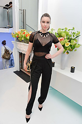 EMMA MILLER at a London Fashion Week Party hosted by rewardStyle at IceTank, 5 Grape Street, London on 21st February 2016.