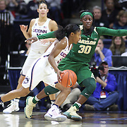 STORRS, CONNECTICUT- NOVEMBER 17: Crystal Dangerfield #5 of the UConn Huskies defended by Alexis Jones #30 of the Baylor Bears during the UConn Huskies Vs Baylor Bears NCAA Women's Basketball game at Gampel Pavilion, on November 17th, 2016 in Storrs, Connecticut. (Photo by Tim Clayton/Corbis via Getty Images)