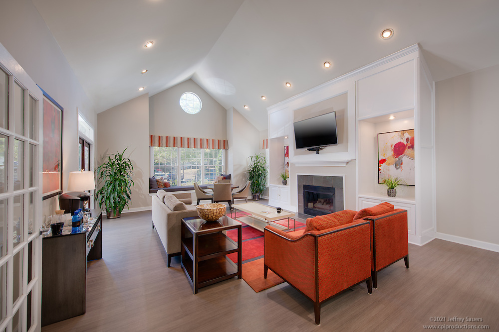 Interior Design image of The Glen Apartments Clubhouse in Wheaton Maryland by Jeffrey Sauers of Commercial Photographics, Architectural Photo Artistry in Washington DC, Virginia to Florida and PA to New England