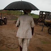 Railway construction site in Kankarda, Rajasthan, India.