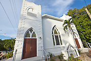 Historic Bethal AME church in the Bahama Village section of Key West, Florida.
