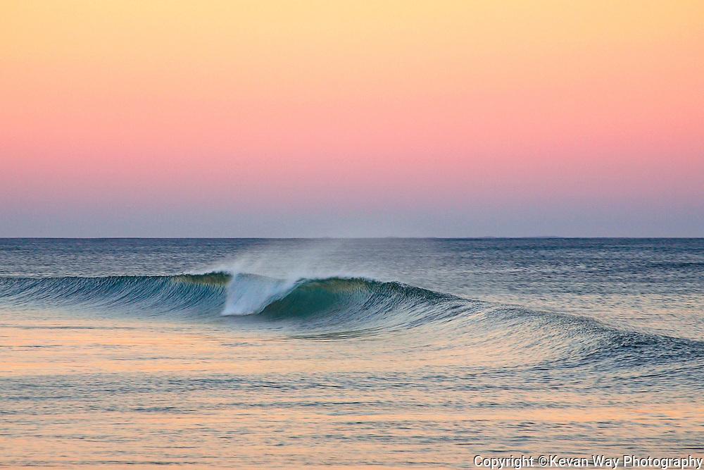 wave at twilight