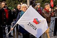 Roma, 14 Febbraio  2015<br /> Manifestazione di solidarietà con la Grecia di Alexis Tsipras e contro le politiche di austerity imposte dalla troika. <br /> Rome, February 14, 2015<br /> Demonstration of solidarity with Greece  of Alexis Tsipras and against austerity policies imposed by the Troika.