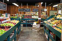 Interior view of grocery store
