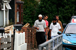 UK ENGLAND LONDON 15AUG06 - Muslims on the streets of Walthamstow followed by a TV team, north London, where Police are investigating an alleged bomb plot...jre/Photo by Jiri Rezac..© Jiri Rezac 2006..Contact: +44 (0) 7050 110 417.Mobile:  +44 (0) 7801 337 683.Office:  +44 (0) 20 8968 9635..Email:   jiri@jirirezac.com.Web:    www.jirirezac.com..© All images Jiri Rezac 2006 - All rights reserved.