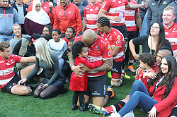 28-07-18 Emirates Airline Park, Johannesburg. Super Rugby semi-final Emirates Lions vs NSW Waratahs. outside centre Lionel Mapoe holds his daughter Zarah<br />  Picture: Karen Sandison/African News Agency (ANA)