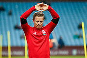 Middlesbrough midfielder Grant Leadbitter (7) warming up  during the EFL Sky Bet Championship match between Aston Villa and Middlesbrough at Villa Park, Birmingham, England on 12 September 2017. Photo by Simon Davies.