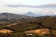 Pic de Bugarach France Corbieres seen from the Aude